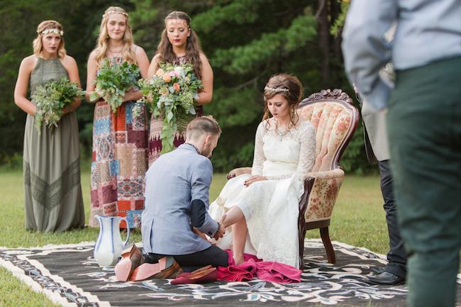 Bohemian Campground Wedding at Sunset