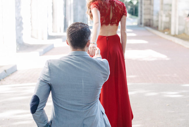 Elegant Engagement Pictures at The Cloisters, Upper Manhattan {Forever Photography}