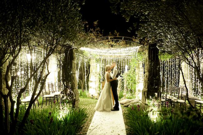 Outdoor Night Wedding Ceremony