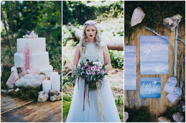 Eclectic Earth: Geode and Crystal Wedding Ideas {HAPPINEST + Lauren Pretorius}
