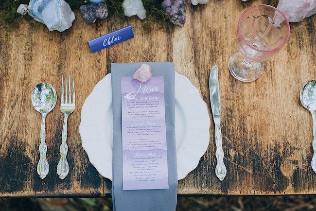 Geode and Crystal Wedding Ideas