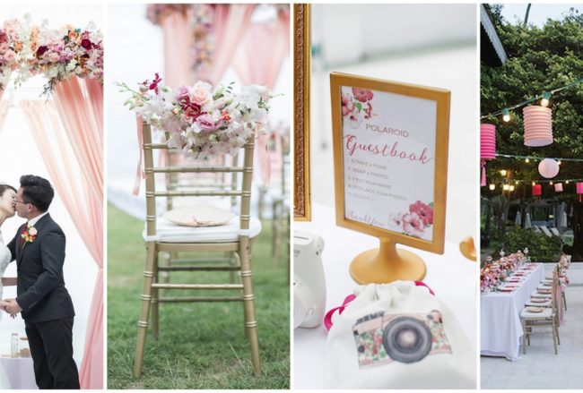 Exquisite Peach + Blush Cape Panwa Wedding in Phuket {Nopparat Photography​}