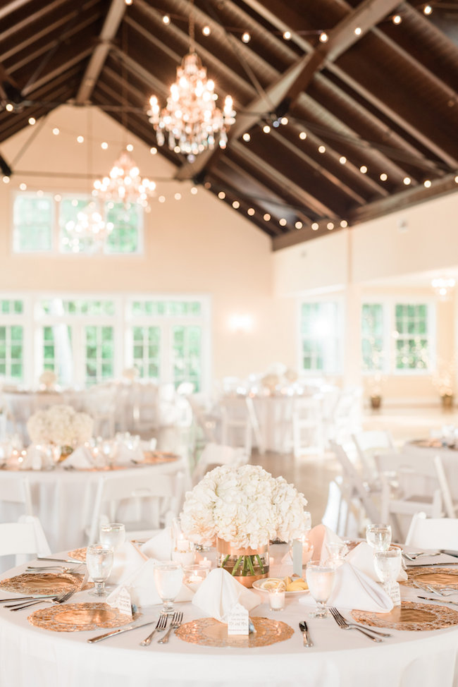 Elegant White And Gold Wedding With Handmade Reception Details