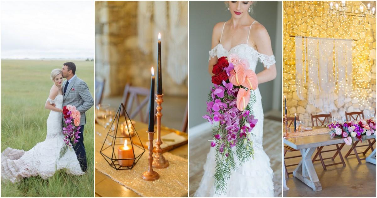 Modern Orchid Wedding