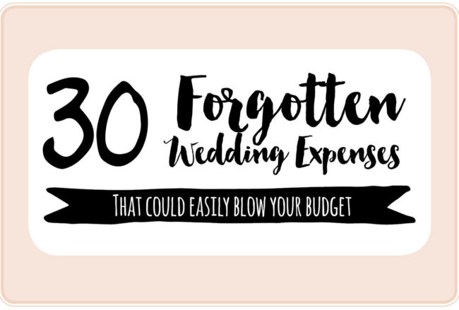 30+ Important Wedding Costs You Might Have Overlooked! {Wedding Planning Series}