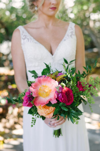 Florida Botanical Gardens Wedding Bouquet