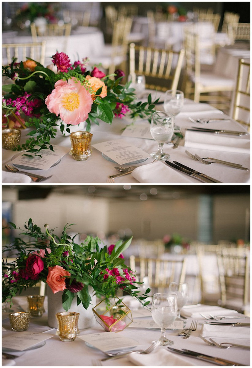 Peony Wedding Table Flowers