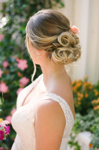 Romantic, Elegant Wedding Upstyle Hair Chignon