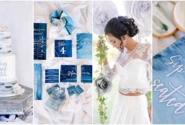 Decor + Details: Watercolor Wedding Ideas in Ocean Blue and Silver {Jaqui Franco}