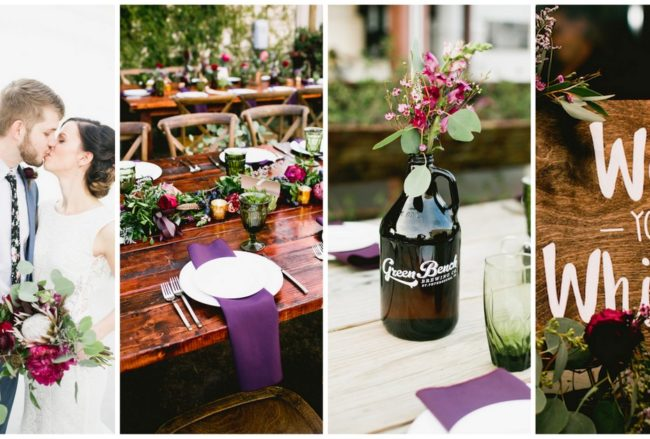 Music Lover's Brewery Wedding Celebration! {Laura Foote Photography}
