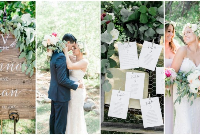 Rustic Romantic Eucalyptus Themed Garden Wedding {Ryann Lindsey Photography}