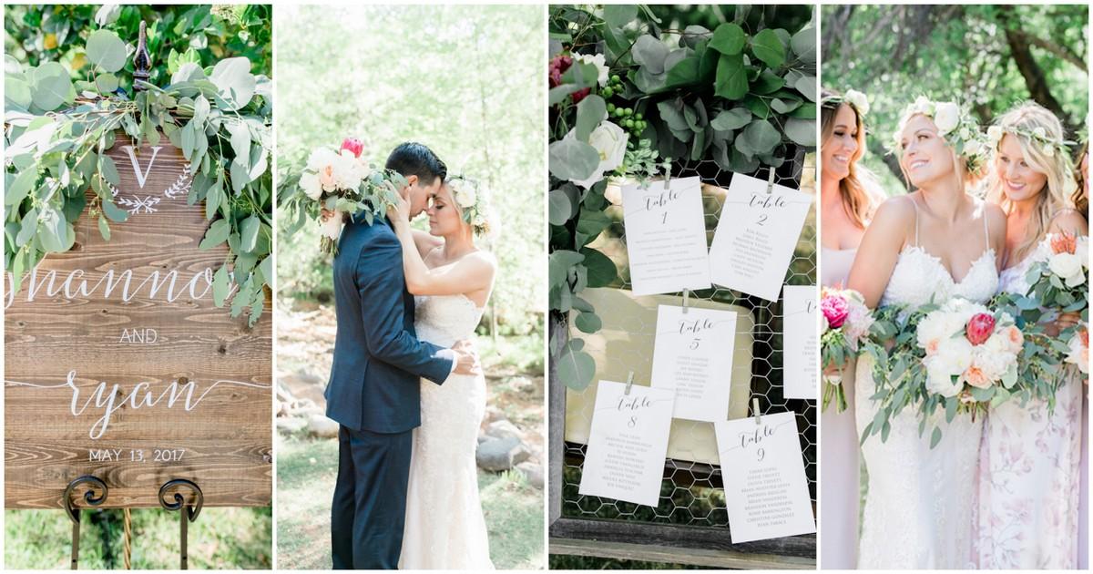 Rustic Romantic Eucalyptus Theme Wedding