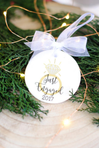 Christmas engagement ornaments
