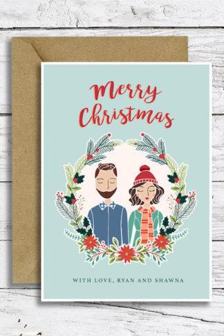 Custom Illustrated Portrait Christmas Cards