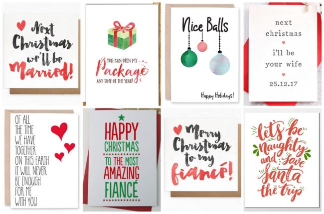 Fiance Christmas and Holiday Cards