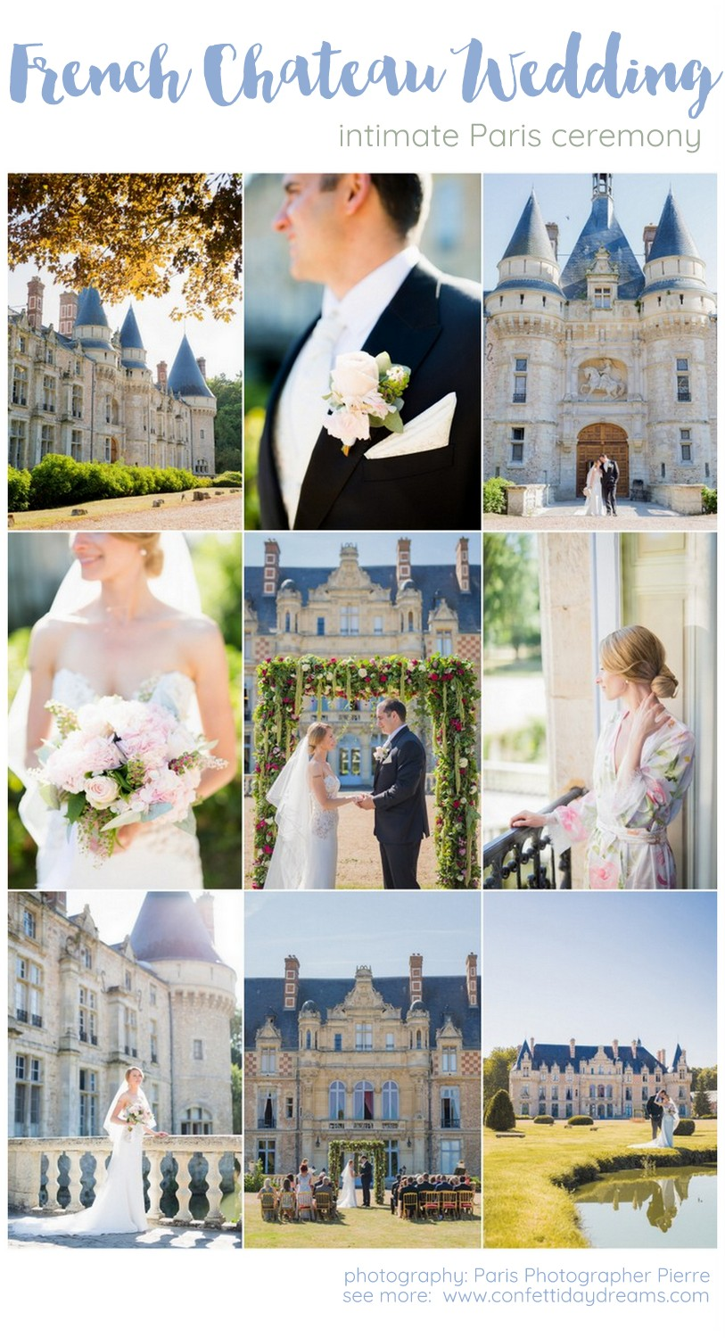 Plan an Intimate French Chateau Wedding