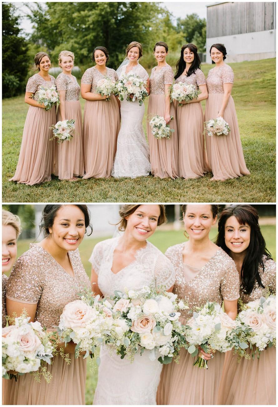Rustic Elegance Bridesmaids Bouquets