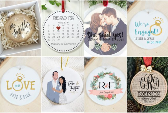 18 Stunning Custom-Made Christmas Engagement Ornaments for Engaged Couples
