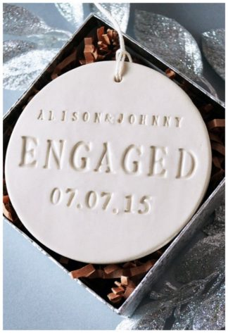Custom engagement ornaments