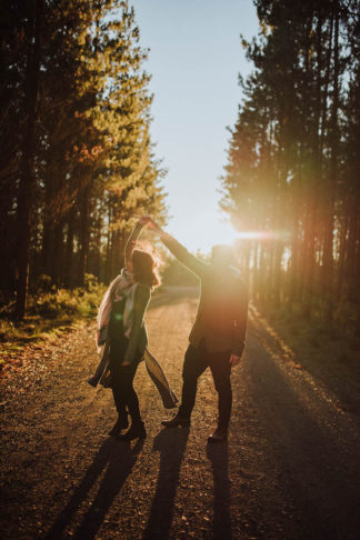 Australian Southern Highlands sunset forest engagement photographs