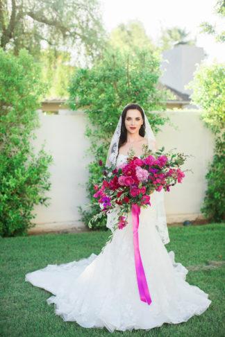 Bougainvillea wedding bouquet