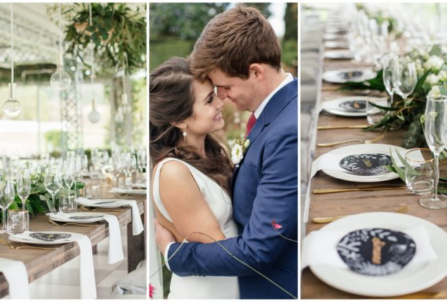 Greenery-filled Wedding with Marsala + Gold Touches {Nicola Bester Photography}