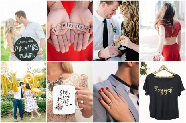 Creative engagement announcement photo ideas for social media