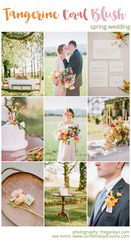 Tangerine Coral Blush Spring Wedding Theme