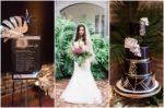 Gold Black Tropical Wedding Theme