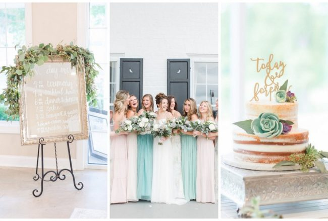 Pretty Greenery and Succulent Wedding in Pastel {Lindsay Fauver Photography}