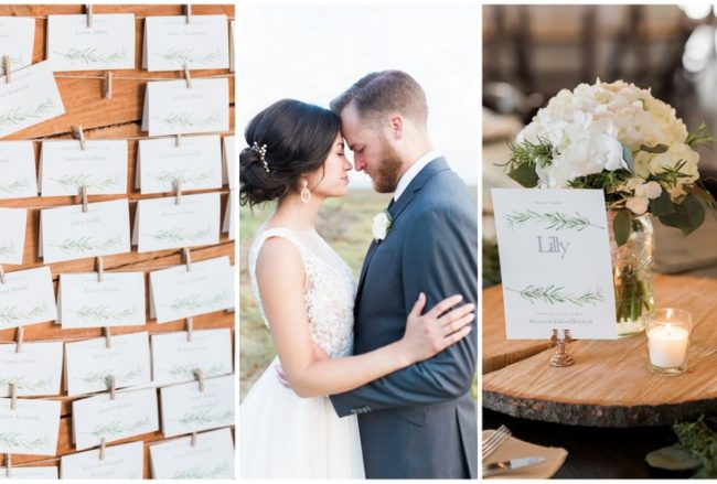 Natural Neutrals: Organic Wedding With Rosemary Details {Jenna Marie Weddings}