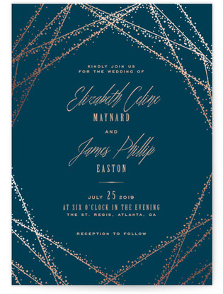 16 Starry Night Celestial Wedding Invitations To Light Up Your Life