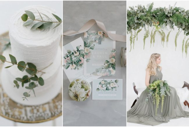 Understated Elegance: Olive Green + Ivory Ideas {Miss Moon & Co}