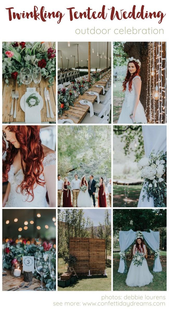 Outdoor tented wedding - Robertson Pat Busch