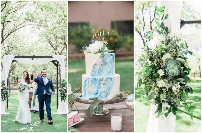 Dusty Blue, Succulent-Filled Arizona Garden Wedding (Venue at the Grove)