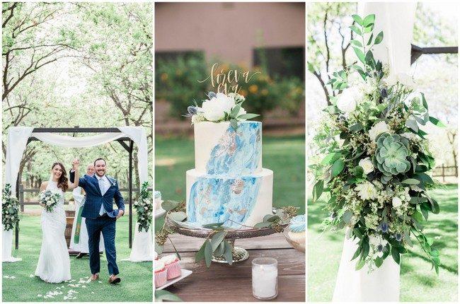 Dusty Blue, Succulent-Filled Arizona Garden Wedding (Venue at the Grove)