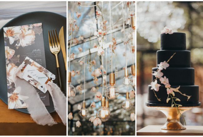 Dramatic + Feminine: Black, Blush and Nude Wedding Ideas