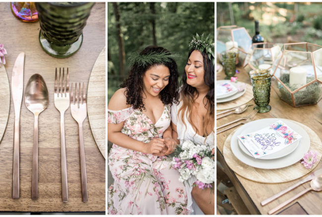 Earthy Boho Bridesmaids Brunch in the Forest