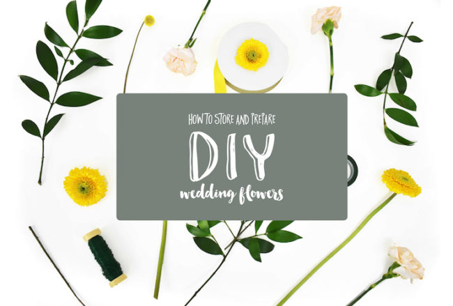 11 Tips for Preparing and Storing DIY Wedding Flowers
