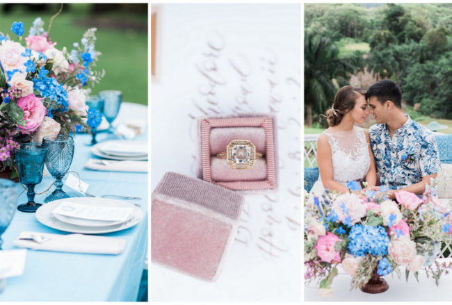 Beautifully Lush, Romantic Hawaii Wedding Inspiration