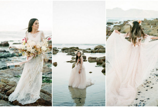 Siren of the Cape Town Shore: Beach Bridal Editorial