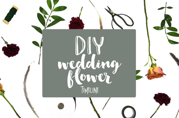 DIY Wedding Flower Timeline