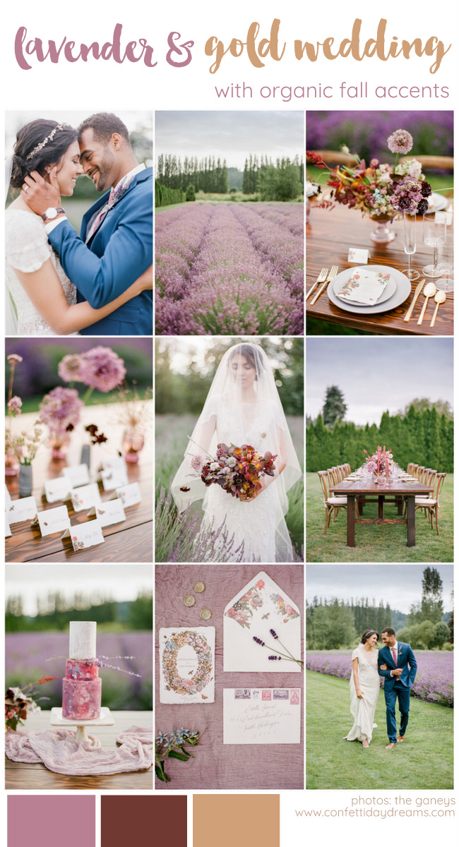 Lavender wedding theme in Fall