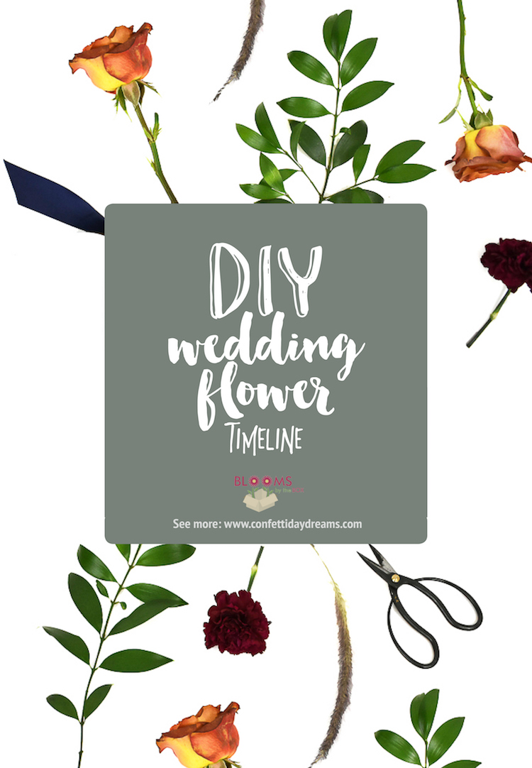 DIY Wedding Flower Timeline : When and how to plan your DIY wedding flowers