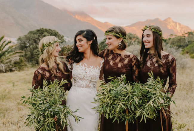 Earthy Vegan Wedding with Mediterranean Details