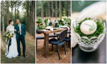 Outdoor Festive Season Wedding in Woods