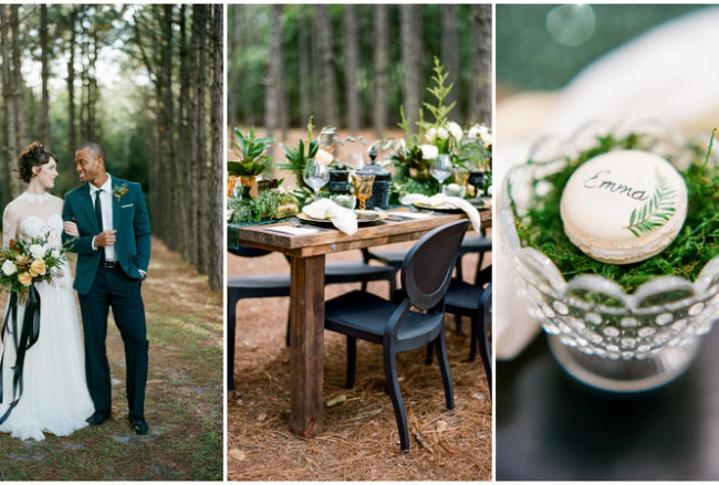 Outdoor Festive Season Wedding Inspiration in the Woods