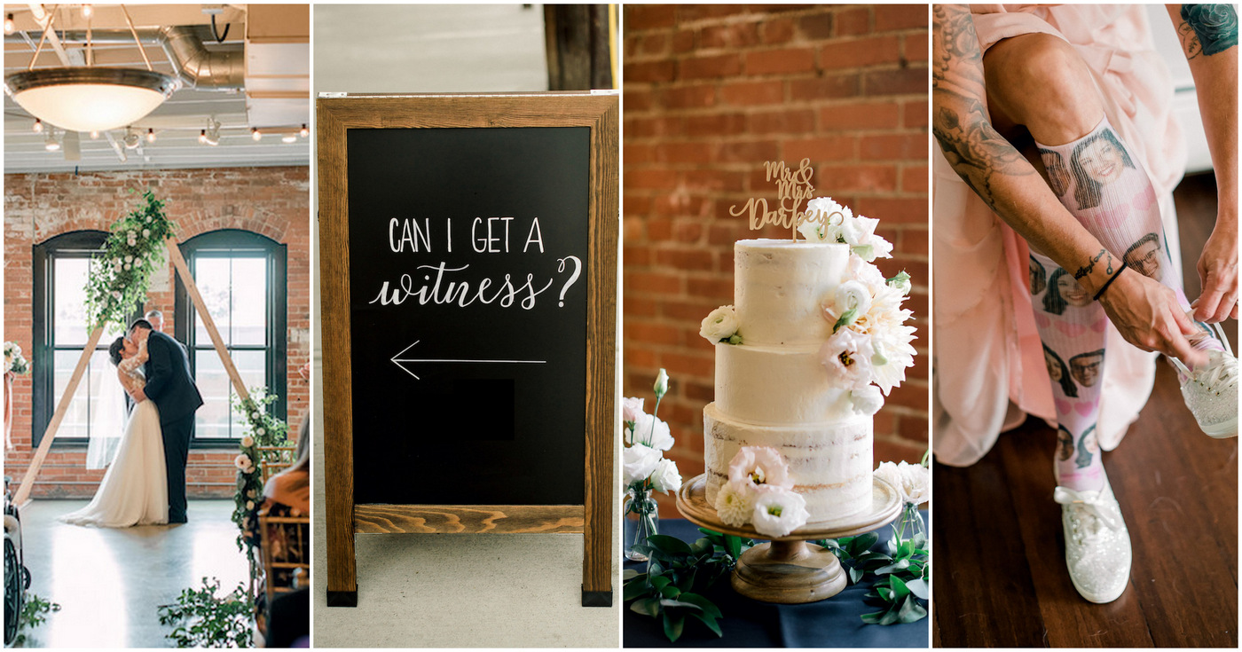 502cc5f196973c Romantic Mid-Century Modern Wedding with Industrial Touches