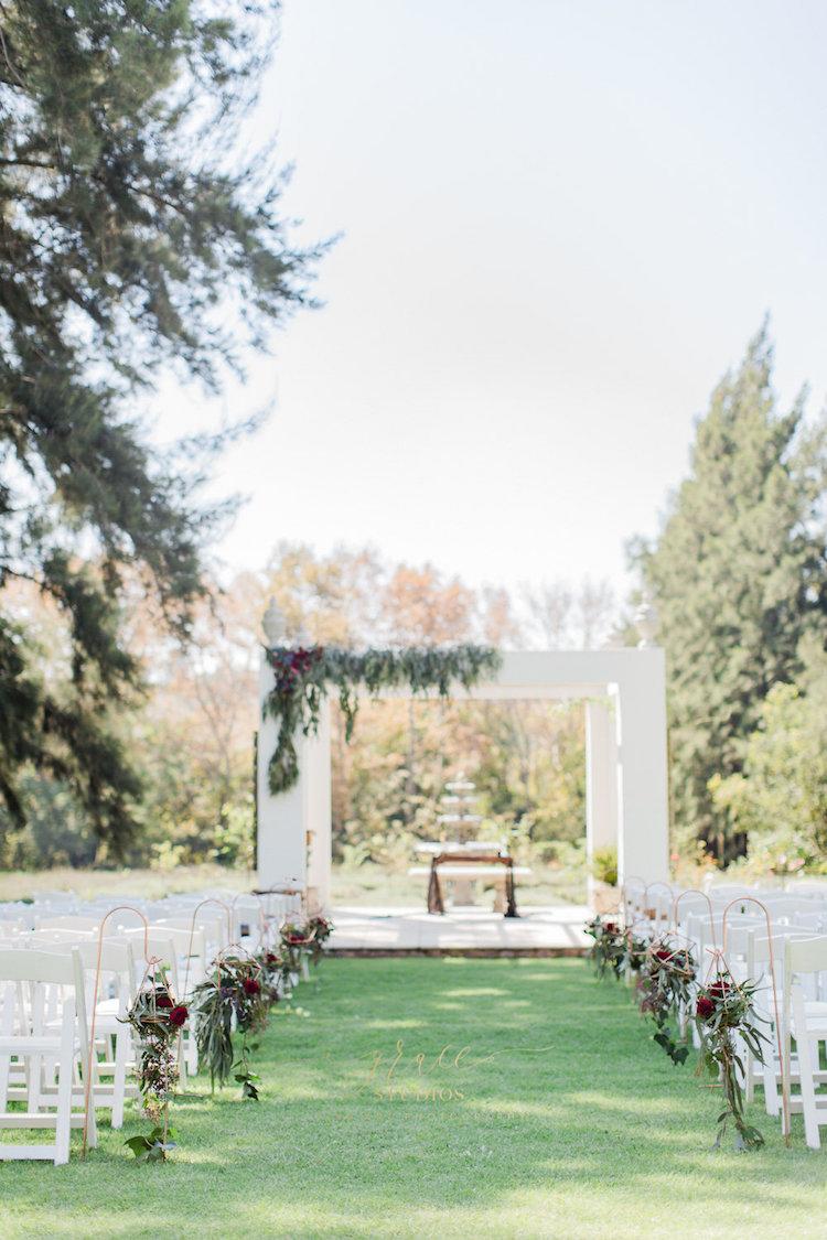 Burgundy, Gold + Black Geometric Wedding Inspiration