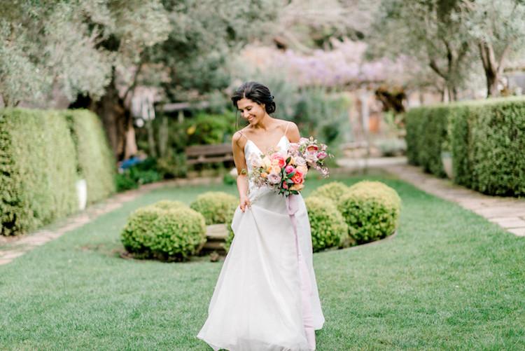 Outdoor Spring Wedding Allied Art Guild Gardens
